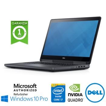 Mobile Workstation Dell Precision 7710 Core i7-6820HQ 16Gb 512Gb 17.3' Nvidia Quadro M3000M Windows 10 Pro