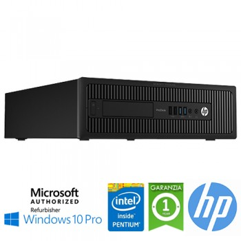 PC HP ProDesk 600 G1 SFF Intel Pentium G3420 3.2GHz 4Gb 500Gb DVD-RW Windows 10 Professional