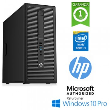 PC HP ProDesk 600 G1 MT Core i3-4130 3.4GHz 8Gb 128Gb SSD DVD-RW Windows 10 Professional TOWER