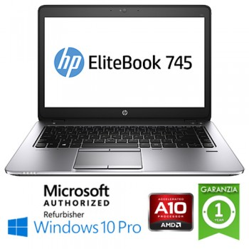 Notebook HP EliteBook 745 G3 AMD A10-8700B 1.8GHz R6 8Gb 180Gb SSD 14' HD Windows 10 Professional