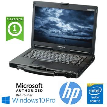 Notebook Panasonic Toughbook CF-53 Rugged Core i5-4310M 8Gb 256Gb SSD 14.1' SERIALE Windows 10 Pro