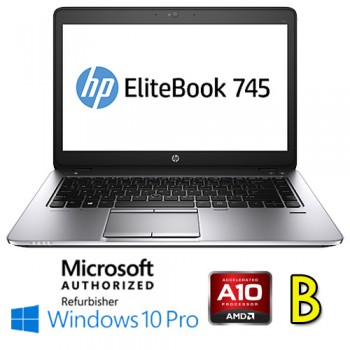 Notebook HP EliteBook 745 G3 AMD A10-8700B R6 8Gb 256Gb SSD 14.1' HD Windows 10 Professional [Grade B]