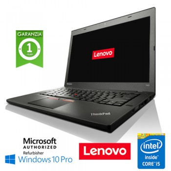 Notebook Lenovo Thinkpad T450 Core i5-5300U Quinta Gen. 8Gb 256Gb SSD 14' Windows 10 Professional