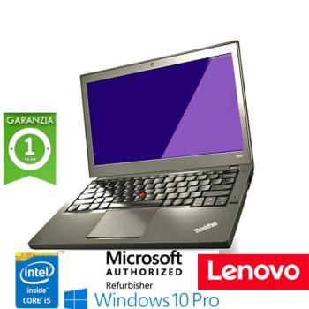 Notebook Lenovo Thinkpad X240 Core i5-4300U 8Gb 256Gb 12.1' WEBCAM Windows 10 Professional LEGGERO
