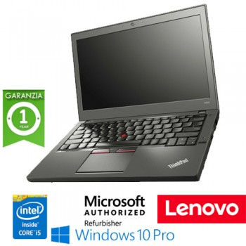 Notebook Lenovo Thinkpad X250 Core  i5-5300U 8Gb 500Gb 12.5' WEBCAM Windows 10 Professional