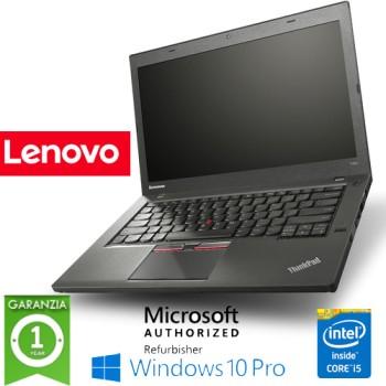 Notebook Lenovo Thinkpad T450S Slim Core i5-5300U Quinta Gen. 8Gb 128Gb SSD 14.1' Windows 10 Professional