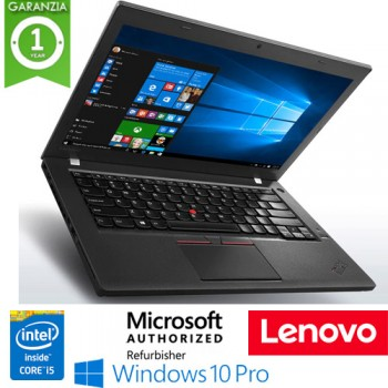Notebook Lenovo Thinkpad T460 Core i5-6200U 8Gb 256Gb SSD 14' Windows 10 Professional