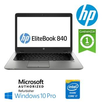 Notebook HP EliteBook 840 G1 Core i7-4600U 8Gb 256Gb SSD 14' LED  Windows 10 Professional