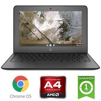 Notebook HP Chromebook 11A G6 EE AMD A4-9120C 1.6GHz 4Gb 16Gb SSD 14' FHD LED TS Chrome OS
