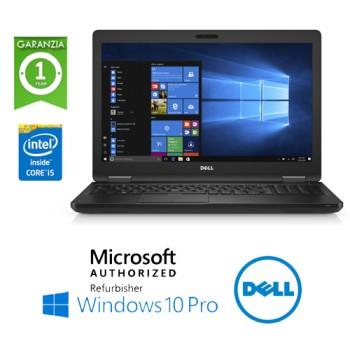 Notebook Dell Latitude E5580 Core i5-6300U 2.3GHz 8Gb Ram 256Gb SSD 15.6' Windows 10 Professional