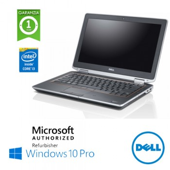 Notebook Dell Latitude E6320 Core i3-2310M 2.2GHz 8Gb Ram 320Gb 13.3' DVD-RW WEBCAM Windows 10 Professional