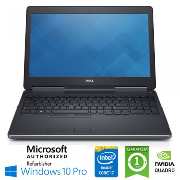 Mobile Workstation Dell Precision 7520 Core i7-7820HQ 2.9GHz 16Gb 512Gb 15.6' NVIDIA Quadro M2200 Win 10 Pro