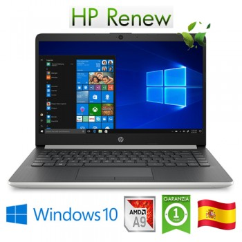 Notebook HP 14-dk0004ns AMD A9-9425 3.1GHz 8Gb 512Gb SSD 14' HD LED Windows 10 HOME [LINGUA SPAGNOLA]