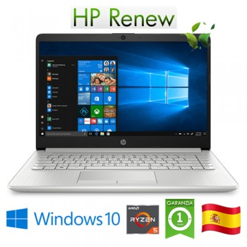 Notebook HP 14-dk0031ns RYZEN5-3500U 2.1GHz 8Gb 512Gb SSD 14' FHD LED Windows 10 HOME [LINGUA SPAGNOLA]