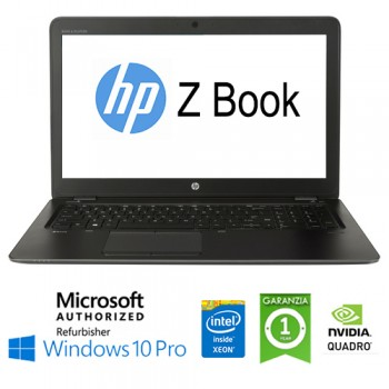 Mobile Workstation HP ZBOOK 15 G3 Xeon E3-1545M 2.7GHz 16Gb 256Gb 15.6' NVIDIA Quadro M2000M Win. 10 Pro