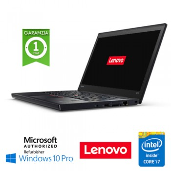 Notebook Lenovo Thinkpad X270 Core i7-6600U 1.7GHz 8Gb 256Gb SSD 12.5' Windows 10 Professional
