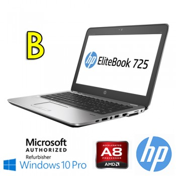Notebook HP Elitebook 725 G3 A8-8600B 1.6GHz 8Gb 256Gb SSD 12.5' Windows 10 Professional [Grade B]