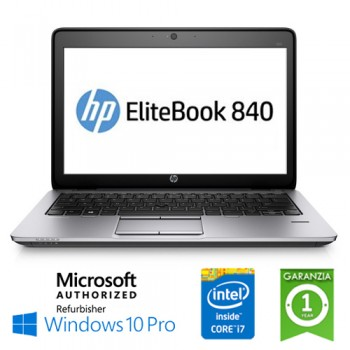 Notebook HP EliteBook 840 G2 Core i7-5600U 2.6GHz 8Gb 512Gb SSD 14'  Windows 10 Professional