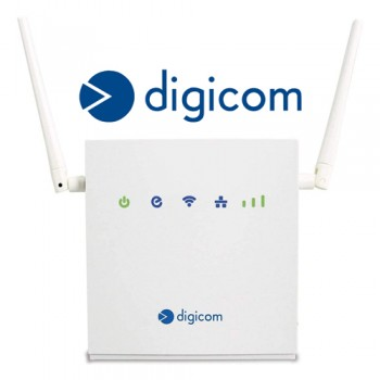 Router Digicom 4G/LTE LiteRoute 8E4617 Con WIFI 300Mbps - 2 Porte LAN 10/100Mbps - WPS [Nuovo]