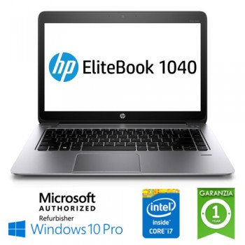 Notebook HP EliteBook Folio 1040 G2 Intel Core i7-5600U 2.6GHz 8Gb 180Gb SSD 14' Windows 10 Professional