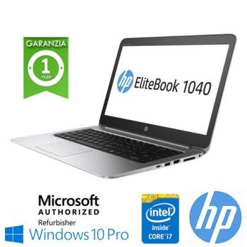 Notebook HP EliteBook Folio 1040 G3 Core i7-6500U 2.5GHz 8Gb 256Gb SSD 14' Windows 10 Professional