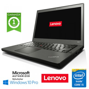 Notebook Lenovo Thinkpad X240 Core i5-4200U 1.6GHz 8Gb Ram 240Gb SSD 12.5' Windows 10 Professional