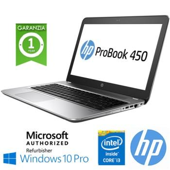 Notebook HP ProBook 450 G4 Core i3-7100U 2.4GHz 8Gb 256Gb SSD 14' DVD-RW Windows 10 Professional
