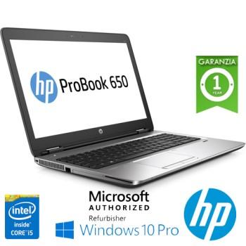 Notebook HP ProBook 650 G2 Core i5-6300U 8Gb 500Gb 15.6' AG LED DVD-RW Windows 10 Professional