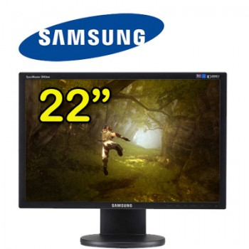 Monitor 22 Pollici Samsung SyncMaster 2243BW LCD Wide DVI Black
