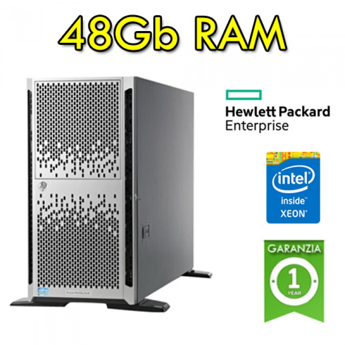 Server HP Proliant ML350p G8 Xeon Quad Core E5-2620 15Mb Cache 48Gb Ram 1800GB Rack (2) PSU Tower