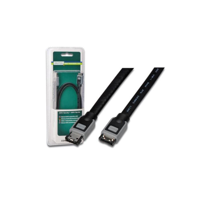 Digitus eSATA adapter cable, 1.5m 1.5m eSATA eSATA Nero cavo SATA