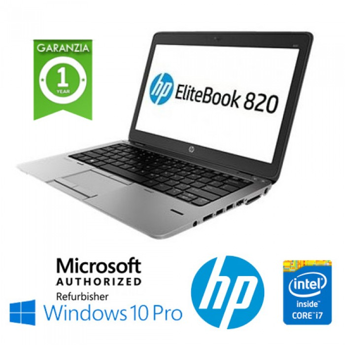 Notebook HP EliteBook 820 G1 Core i7-4600U 8Gb 500Gb 12.5' HD AG LED Windows 10 Professional Leggero