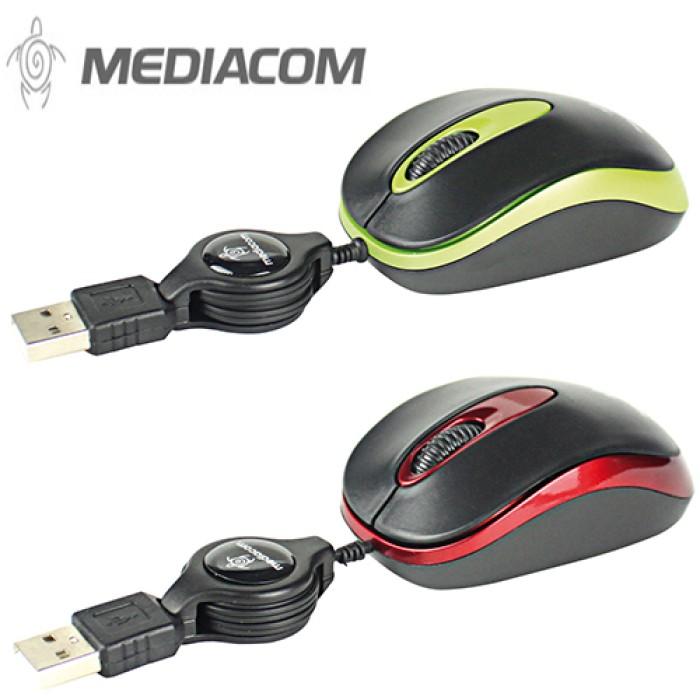 Scroll Mouse Mediacom Mini Mouse BX40 USB con Sensore Ottico 1000 DPI NUOVO