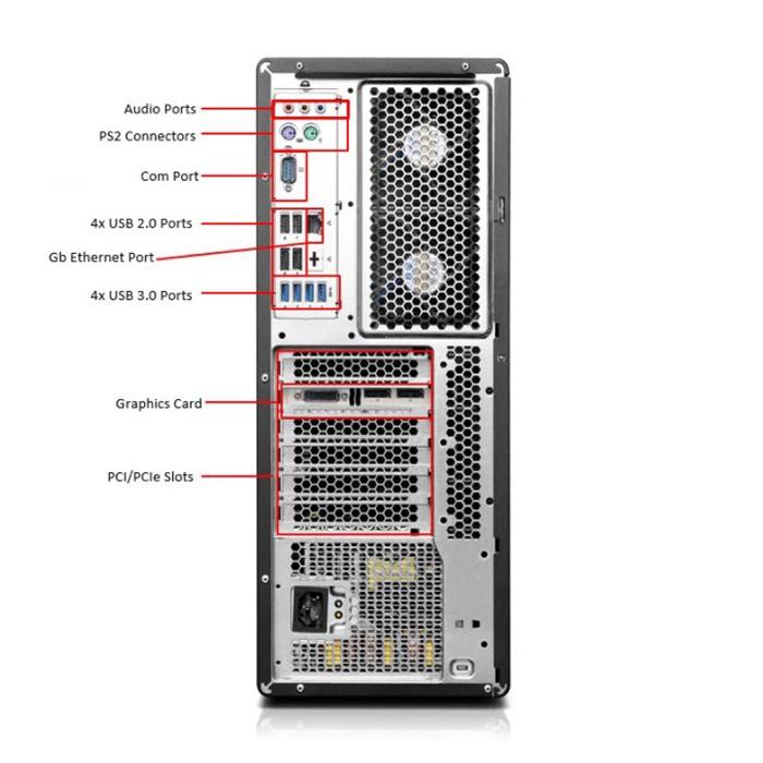 Workstation Lenovo ThinkStation P500 Xeon E5-1620 V3 32Gb 512Gb SSD Quadro K2000 2Gb Windows 10 Pro