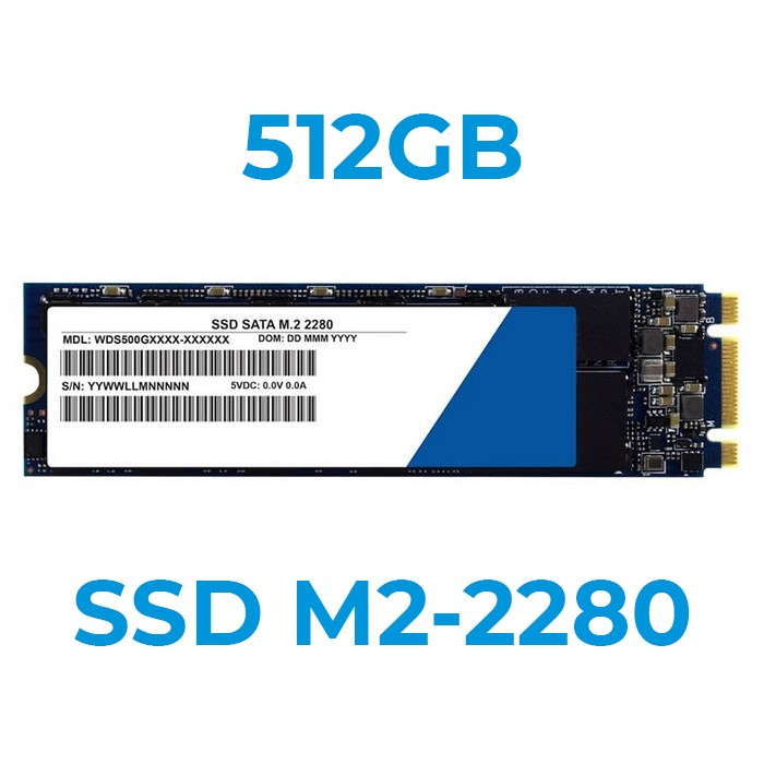 UPGRADE A SSD 512GB M2-2280 Installazione Inclusa (Ordinabile solo con nostri PC/Notebook)