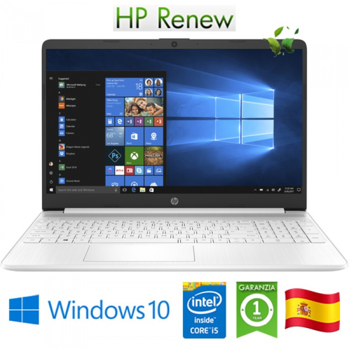 Notebook HP 15s-fq1008ns i5-1035G1 1.0GHz 8Gb 512Gb 15.6' HD LED Windows 10 HOME [LINGUA SPAGNOLA]