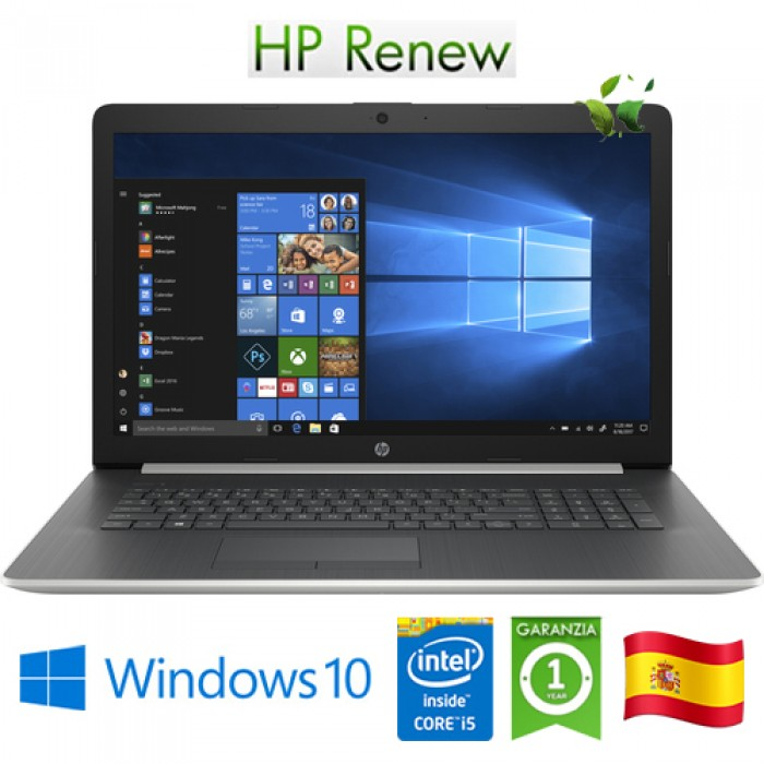 Notebook HP 17-by2003ns i5-10210U 8Gb 512Gb DVD-RW 17.3' AMD Radeon 530 2GB Win 10 HOME [LINGUA SPAGNOLA]