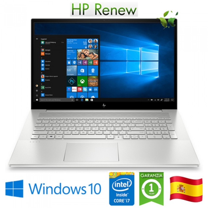 Notebook HP ENVY 17-cg0000ns i7-1065G7 16Gb 1Tb 17.3' Nvidia GeForce MX330 4GB Win 10 HOME [LINGUA SPAGNOLA]