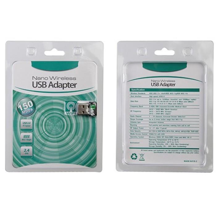 CHIAVETTA NANO USB WIFI ADAPTER 150 MBIT IEEE 802.11N (2.4GHz)