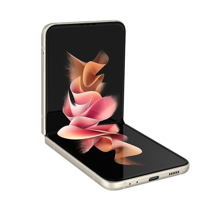 Smartphone Samsung Galaxy Z FLIP 3 5G SM-F711B 6.7' 8Gb RAM 128Gb Dynamic AMOLED 2X 12MP CREAM