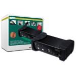 DATA SWITCH PER 2 PC USB/DVI CON 1 UTENTE CON MONITOR DVI, MOUSE E TASTIERA USB, CONDIVISIONE AUDIO, HUB 2 POR