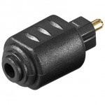 ADATTATORE AUDIO TOSLINK MASCHIO - MINI TOSLINK 3,5MM FEMMINA