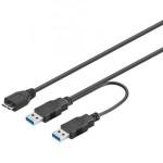 CAVO SPLITTER ALIMENTAZIONE USB 3.0 CONNETTORI 2XA - 1X MICRO B
