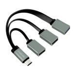 HUB USB TIPO C A CODA CON 2 PORTE USB 2.0 E 1 PORTA USB 3.0