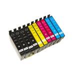 MULTIPACK 10 CARTUCCE COMPATIBILE PER EPSON COMPOSTO DA 4 NERE, 2 CIANO, 2 MAGENTA, 2 GIALLO T1281 T1282 T1283