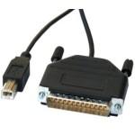 CAVO ADATTATORE DA CONNETTORE 25 POLI PARALLELO MASCHIO (PC) A USB TIPO B (STAMPANTE USB)