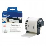 BROTHER DK22205 NASTRO ADESIVO NERO BIANCO 62MM