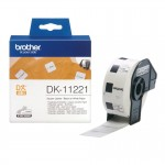 BROTHER DK11221 1000 ETICH QUAD ADES IN CARTA NERO BIANC 23MMX23M