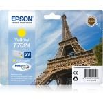 EPSON C13T70244010 CARTUCCIA T7024 TORRE EIFFEL 213ML GIALLO XL