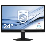 PHILIPS 241B4LPYCB/00 24 LED WIDE 1920X1080 5MS DVI MULT PIVOT VGA BLACK